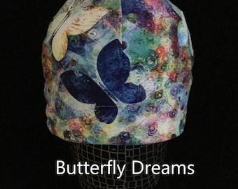 """Helmet Liner/Running Cap/Ski Cap  - """"Butterfly Dreams"""""""
