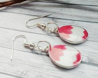 Easter Egg Earrings, Easter Earrings, Egg Earrings, Easter Gift, Fun Easter Earrings, Pink Drop Earrings, Cute Egg Earrings,Easter Jewellery