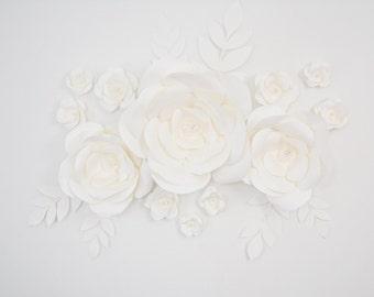 Paper Flower Backdrop- Dessert Table Decor, Wall Decor