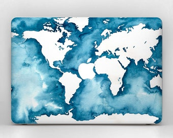 World map macbook etsy ocean print macbook air 13 skin world map macbook 12 skin macbook world 2017 macbook decal gumiabroncs Images
