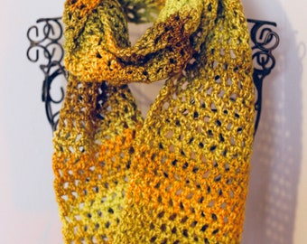 Infinity Scarf, Crocheted Scarf