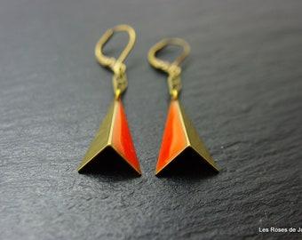 Art deco earrings, origami earrings
