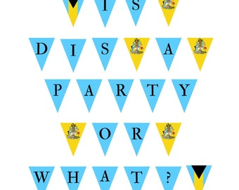 Bahamian Saying Bunting - Is dis a party or what?