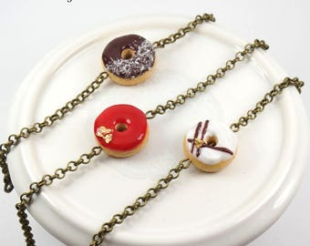 Bracelets Donuts - Multiple available glazes - polymer clay jewelry