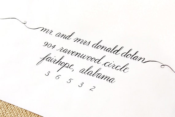 Items similar to Hand Calligraphy Envelope Addressing for