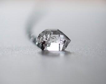 The Mighty Herkimer Diamond Necklace, Raw Crystal Necklace, Quartz Pendant, Boho Necklace, Raw Stone Necklace, Crystal Quartz by Prairieoats