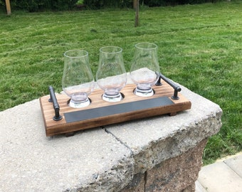 Whiskey Flight with Glasses, Whiskey Flight Paddle, Beer Flight Chalkboard, Whiskey Flight Set, Whiskey Flights, Fathers Day Gift
