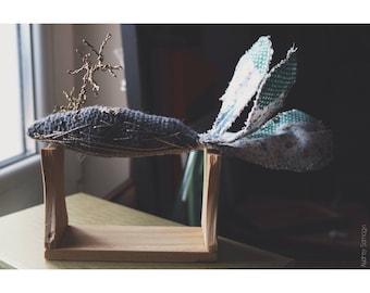 Woodland crochet whale