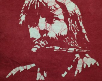 Brent Mydland Grateful Dead hand made burgundy with a touch of brown batik