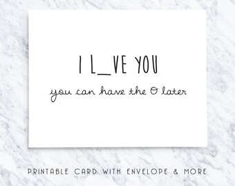 naughty card, card for boyfriend, sexy time card, romantic card, card for hustband, printable vday card, printable cards