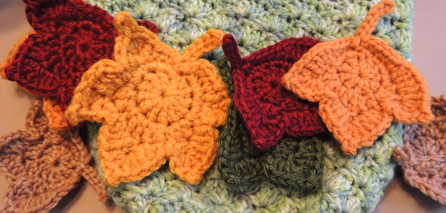 SALE leaf PATTERNs - 2 Fast and EASY Fall Maple Leaf Crochet ...