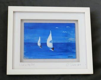 "Original acrylic painting ""Wind in my Sail"""