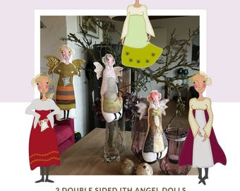 Intro Offer: take 3 and pay for 2 - ALL 3 ANGEL DOLLS for the Big hoops in one pack - save 33%