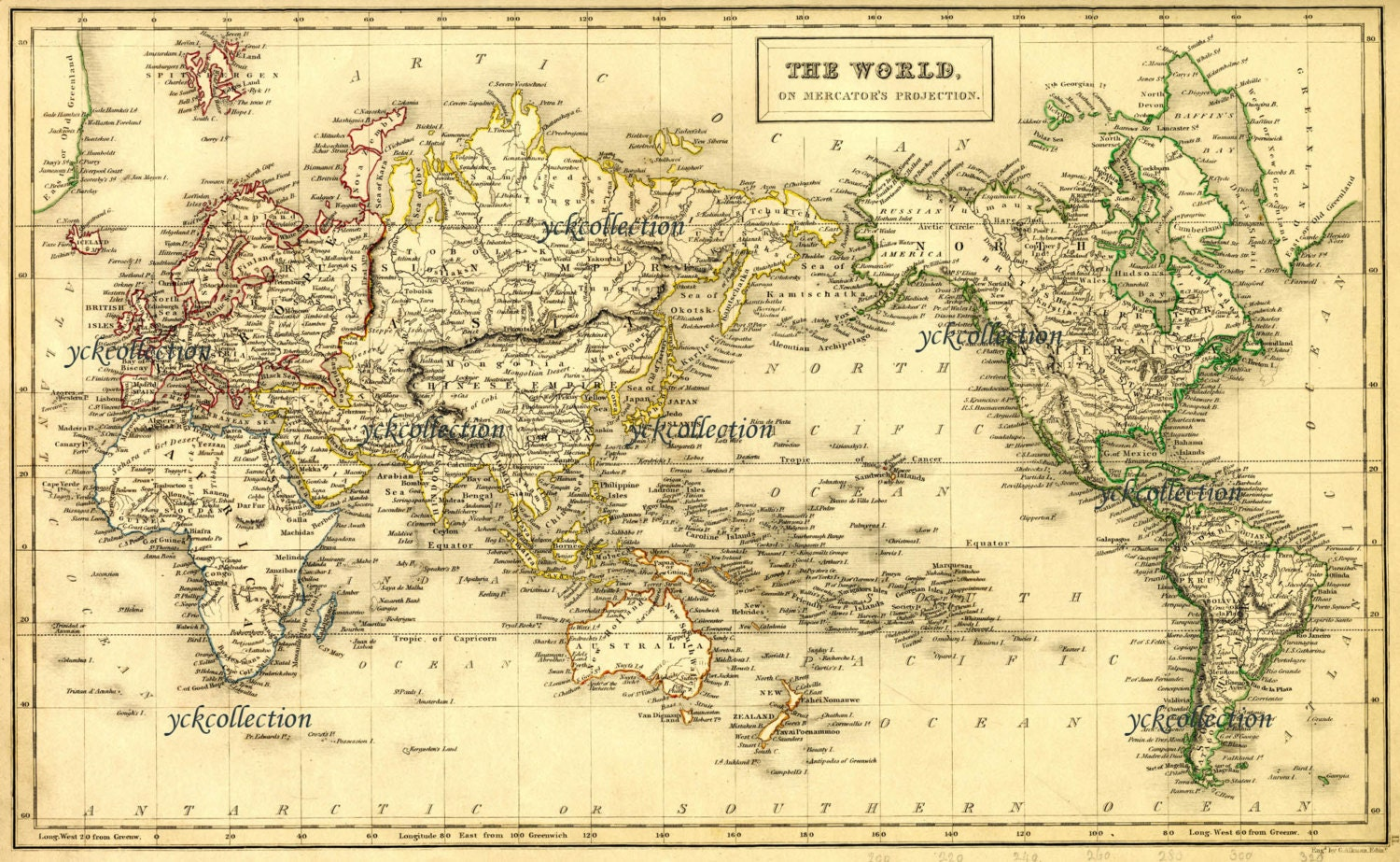 Antique World Map X To X Vintage Map In - Large sepia world map
