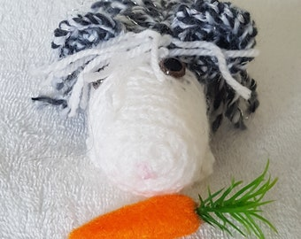 Hand crocheted guinea pig
