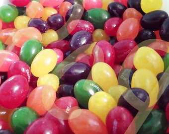 Macro Photograph of Colorful Jellybean Candy Art Poster Print