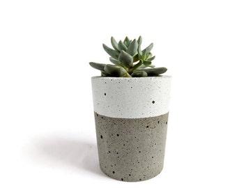 Olla concreto para la decoración casera de cactus suculentas maceta industrial urbana gris