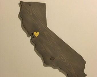 Handmade Wood California Cutout