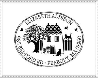 Return address stamp COUNTRY HOME