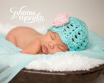 Newborn Baby Girl Hat, Newborn Girl Photo Outfit, Crochet Baby Hat, Baby Girl Hat, Newborn Baby Girl Gift, Coming Home Outfit, Baby Girl