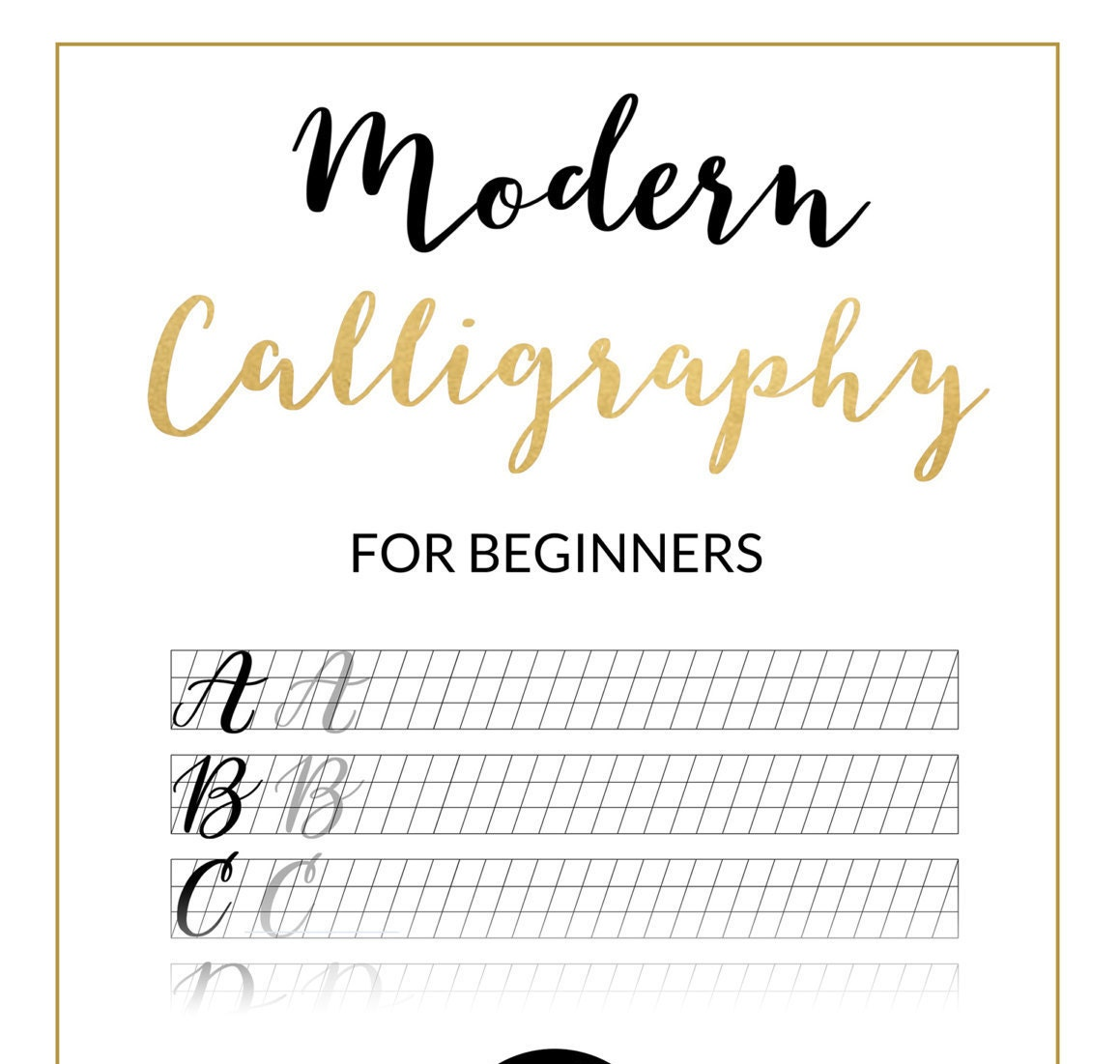 Modern Calligraphy Practice Sheet - Downloadable Calligraphy ...