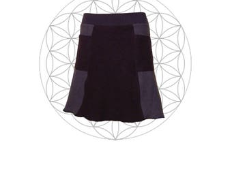 Sample Sale Organic Skirts Ready to Ship in Medium - Custom Made from Organic Cotton and Hemp terry (fleece weight) 2 Pockets Hemp Skirt