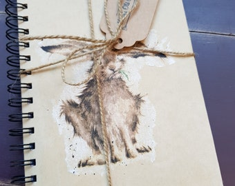 Handcrafted hare notepad notebook