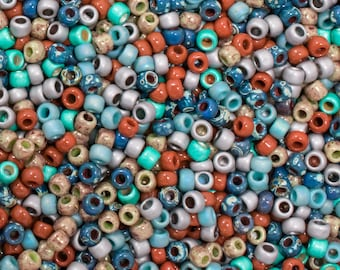 Comfy Cords 8/0 Toho and Miyuki Seed Bead Mix - 15 grams - Comfy Cords 8/0 Seed Bead Mix - 1776 - Exclusive 8/0 Toho Seed Bead Mix