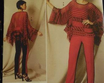 Zandra Rhodes Vogue V1491  Sizes Xsm-Sml-Med Sewing Pattern