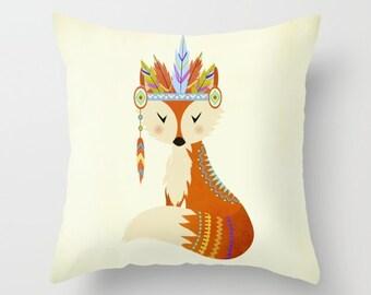 Tribal Fox Pillow Nursery Pillow Kids pillow Tribal Fox Cushion Fox Nursery Cushion Fox Throw Pillow Fox Decoration Pillow Cute Fox Gift