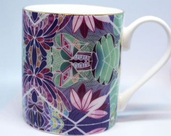 Fine china Mug – Lotus flower