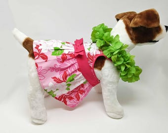 Dog or cat dress, Hawaiian Print.