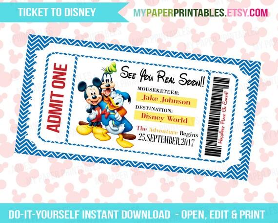 Revered image inside disney world printable tickets
