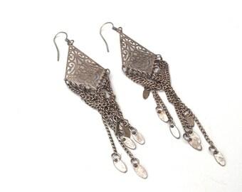 metal earring, Dangle earring, gift under 10