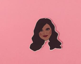 Mindy Kaling Pin [brooch lapel pin the office the mindy project]