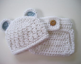 Newborn Baby Bear Outfit, Coming Home Outfit, Newborn Boy Photo Outfit, Crochet Baby Outfit, Baby Boy Outfit, Teddy Bear Outfit, Baby Bear