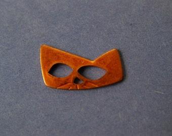 6 Vintage Copper Cat Masks