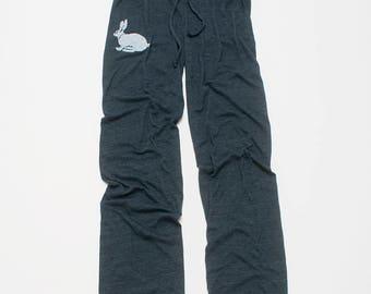 oh my Rabbit Pants, Easter Gift, Yoga Pants, Wide Leg Pants, Lounge Pants, S,M,L,XL