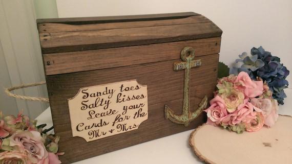 beach wedding card box anchor wedding reception card box