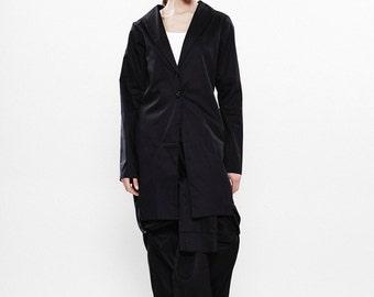 Black Trench Coat, Women's Trench Coat, Black jacket, Womens Blazer,Black Blazer, Extravagant Jacket, Long Jacket, Blazer Jacket, Black Top