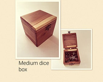 Wooden dice box, Custom dice box, RPG wooden dice box, MTG counter and Token box, D and D dice storage, Wooden dice storage, cedar box