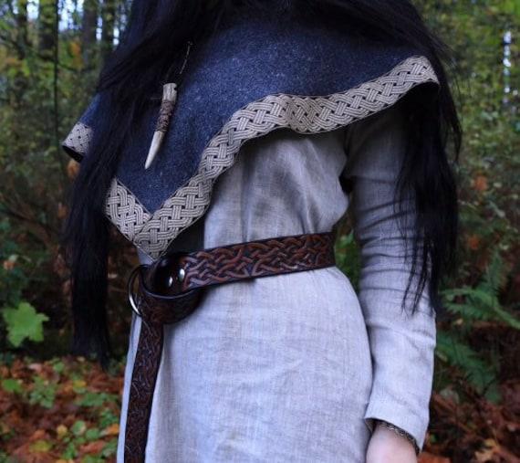 Linen Wool Viking Skjoldehamn Archer Oversized Hood, Trim, Garb, Historical, Norse, SCA, LARP, HEMA, Reenactment, Medieval, Renaissance