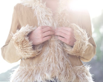 1970s Almost Famous Penny Lane Shag Suede Coat
