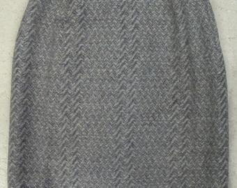 TAMI SOPHISTICATES wool pencil SKIRT gray herringbone xs (D2)