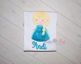 Elsa Cutie Personalized Shirt, Snow Queen Personalized Shirt, Frozen Shirt