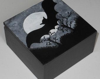 Bat Silhouette/Halloween/ Trinket/Decorative box