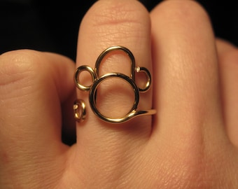 Wire Wrapped Monkey MADE to ORDER Adjustable Ring