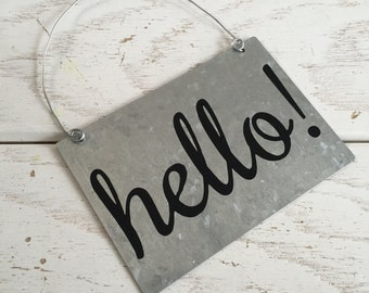 Hello Sign Welcome Sign, Hello sign, Wood Quote Sign, Home Decor, Rustic Decor Rustic Wall Decor, Rustic Decor, Wood Signs