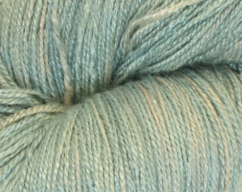 "Organic bamboo yarn ""Grey 1"", vegan, crochet thread, lace weight, hand dyed yarn, knitting, weaving, hand painted yarn, Christmas, 7.1 oz"