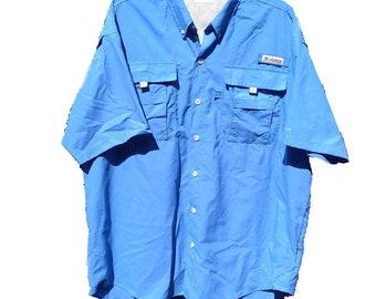 PFG Columbia Large Performance Fishing Gear Vented Omni-Shade Shirt